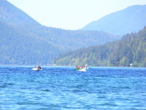 Group Paddle on Lake Crescent